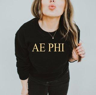Alpha Epsilon Phi Nickname Crew Sweatshirt