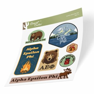 Alpha Epsilon Phi Outdoor Sticker Sheet
