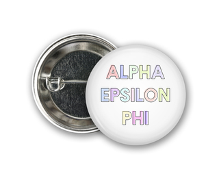Alpha Epsilon Phi Pastel Letter Button