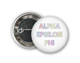 Alpha Epsilon Phi Pastel Letter Button