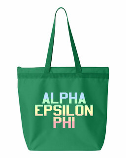 Alpha Epsilon Phi Pastel Tote Bag