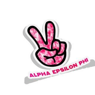 Alpha Epsilon Phi Peace Hands Decal Sticker