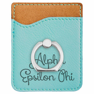 Alpha Epsilon Phi Phone Wallet with Ring