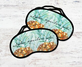Alpha Epsilon Phi Pineapple Script Eye Mask