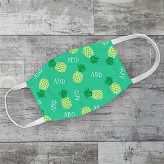 Alpha Epsilon Phi Pineapples Face Mask