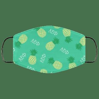 Alpha Epsilon Phi Pineapples Face Mask