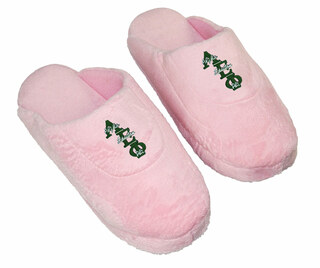 DISCOUNT-Alpha Epsilon Phi Pink Solid Letter Slipper