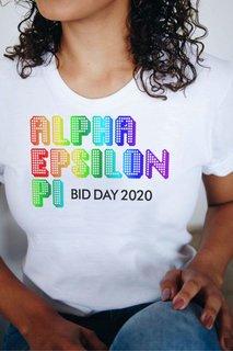 Alpha Epsilon Phi Pixel Tee - Comfort Colors