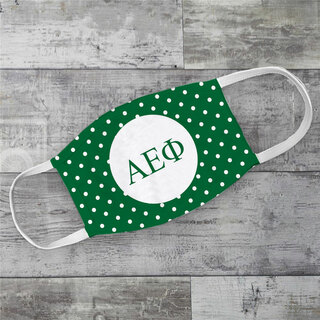 Alpha Epsilon Phi Polka Dots Face Mask