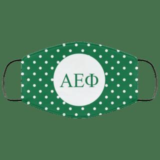 Alpha Epsilon Phi Polka Dots Face Mask