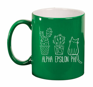 Alpha Epsilon Phi Purrrfect Sorority Coffee Mug
