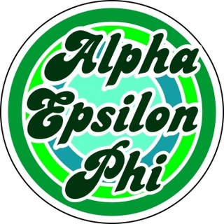Alpha Epsilon Phi Retro Round Decals