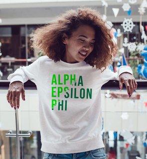 Alpha Epsilon Phi Ripped Favorite Crewneck