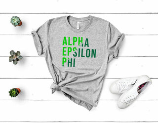 Alpha Epsilon Phi Ripped Favorite T-Shirt