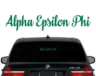 Alpha Epsilon Phi Script Decal