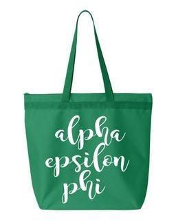 Alpha Epsilon Phi Feathers Tote Bag