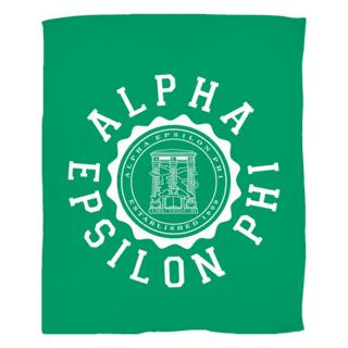 Alpha Epsilon Phi Seal Fleece Blanket