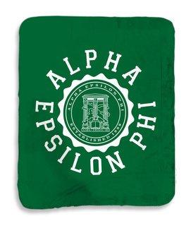 Alpha Epsilon Phi Seal Sherpa Lap Blanket