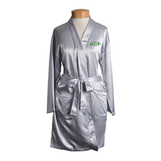 Alpha Epsilon Phi Short Satin Robe