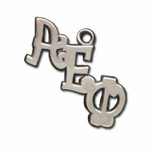 Alpha Epsilon Phi Silver Diagonal Curlz Charm