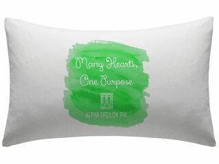 Alpha Epsilon Phi Motto Watercolor Pillowcase