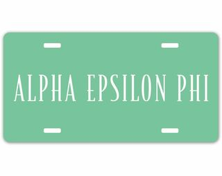 Alpha Epsilon Phi Sorority Logo License Cover