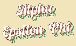 Alpha Epsilon Phi Sorority Retro Flag