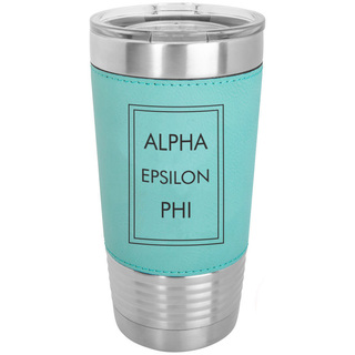 Alpha Epsilon Phi Sorority Leatherette Polar Camel Tumbler