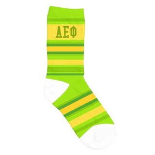 Alpha Epsilon Phi Striped Crew Socks