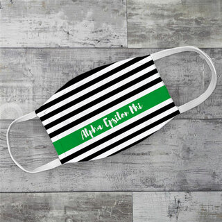 Alpha Epsilon Phi Stripes Face Mask