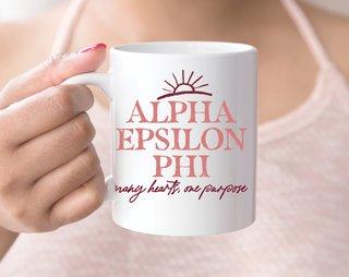 Alpha Epsilon Phi Sun Mug