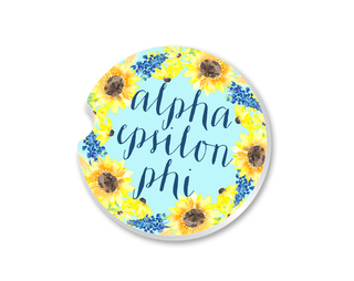 Alpha Epsilon Phi Sunflower Car Coaster