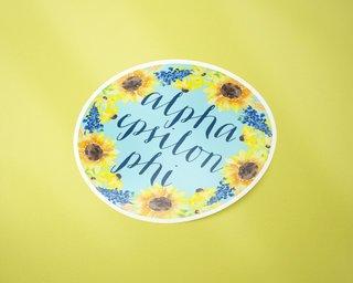 Alpha Epsilon Phi Sunflower Sticker Sticker