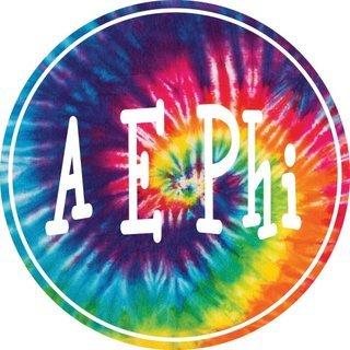 Alpha Epsilon Phi Tie-Dye Circle Sticker