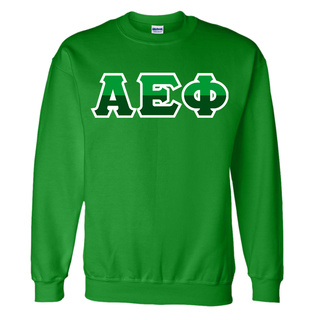 Alpha Epsilon Phi Two Tone Greek Lettered Crewneck Sweatshirt