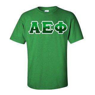 Alpha Epsilon Phi Two Tone Greek Lettered T-Shirt