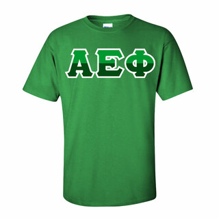 Alpha Epsilon Phi Two Tone Greek Lettered T-Shirt