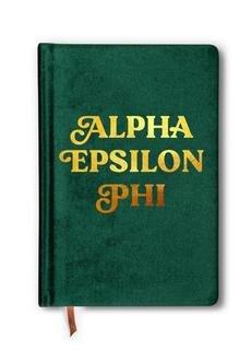 Alpha Epsilon Phi Velvet Notebook