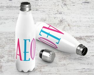 Alpha Epsilon Phi Brights Stainless Steel Water Bottle