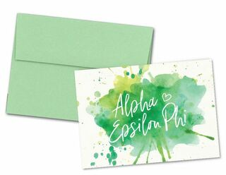 Alpha Epsilon Phi Watercolor Script Notecards(6)