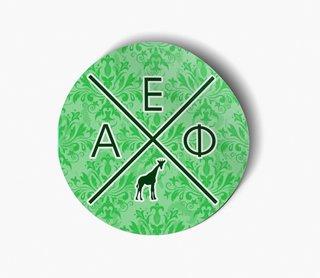Alpha Epsilon Phi Well Balanced Round Decals