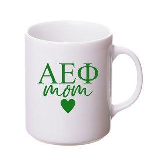 Alpha Epsilon Phi White Personalized Coffee Mug