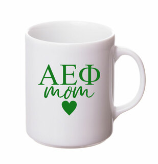 Alpha Epsilon Phi White Personalized Coffee Mug