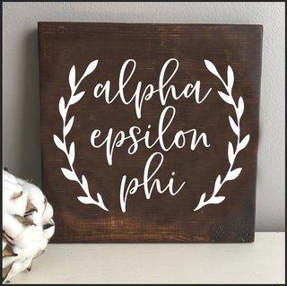 Alpha Epsilon Phi Wooden Wall Art