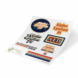Alpha Epsilon Pi 70's Sticker Sheet