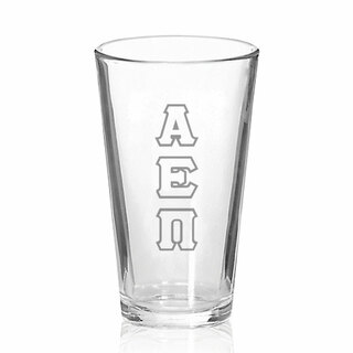 Alpha Epsilon Pi Big Letter Mixing Glass