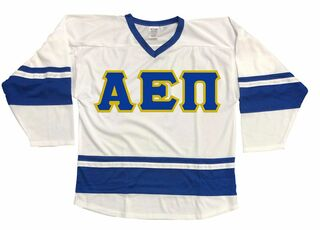 DISCOUNT-Alpha Epsilon Pi Breakaway Lettered Hockey Jersey