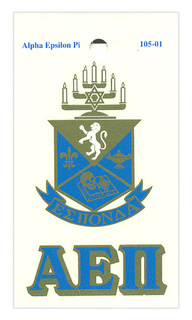 Alpha Epsilon Pi Crest - Shield Decal