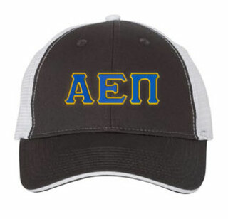Alpha Epsilon Pi Double Greek Trucker Cap