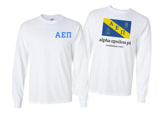 Alpha Epsilon Pi Flag Long Sleeve T-shirt